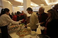 Chiyah Forum Beirut Suburb Social Event Christmas lunch for elders at Chiyah Forum Lebanon