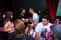 Metro Al Madina Beirut-Hamra Concert Fadee Andrawos Surrounded By his fans on stage Lebanon