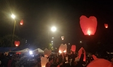Outdoor Zahle sky lanterns carry wishes to the heavens Lebanon