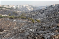 Outdoor Photos of Fire Damages in Mechref Lebanon