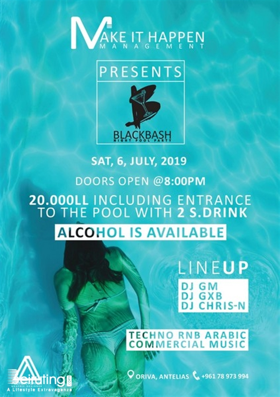 Activities Beirut Suburb Beach Party Blackbash Night Pool Party Lebanon