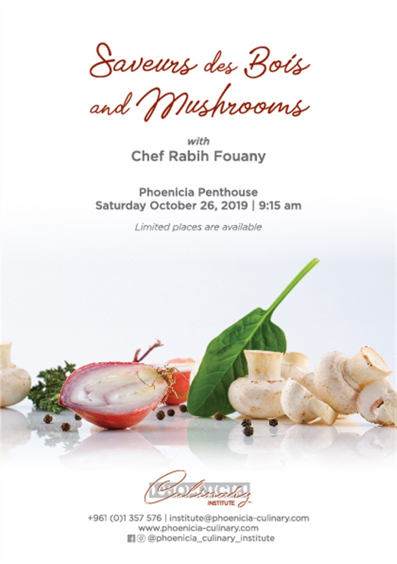 Phoenicia Hotel Beirut Beirut-Downtown Social Event Saveurs des Bois and Mushrooms with Chef Rabih Fouany Lebanon