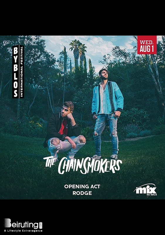 Byblos International Festival Jbeil Festival The Chainsmokers at Byblos Festival Lebanon