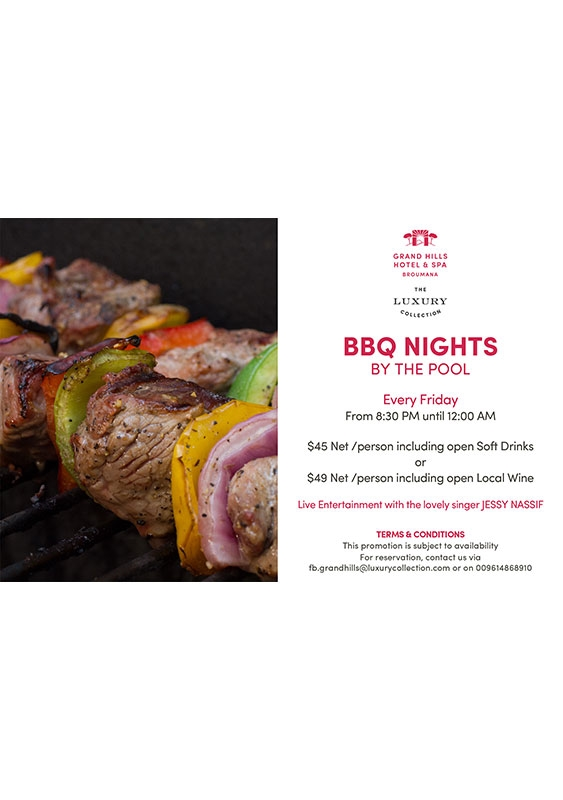 Grand Hills  Broumana Social Event BBQ Night at By The Pool Lebanon