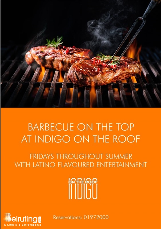 Indigo on the Roof-Le Gray Beirut-Downtown Nightlife Live BBQ Fridays at Indigo on the Roof Lebanon