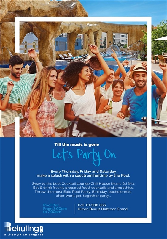 Hilton  Sin El Fil Beach Party Funtime by the Pool Lebanon