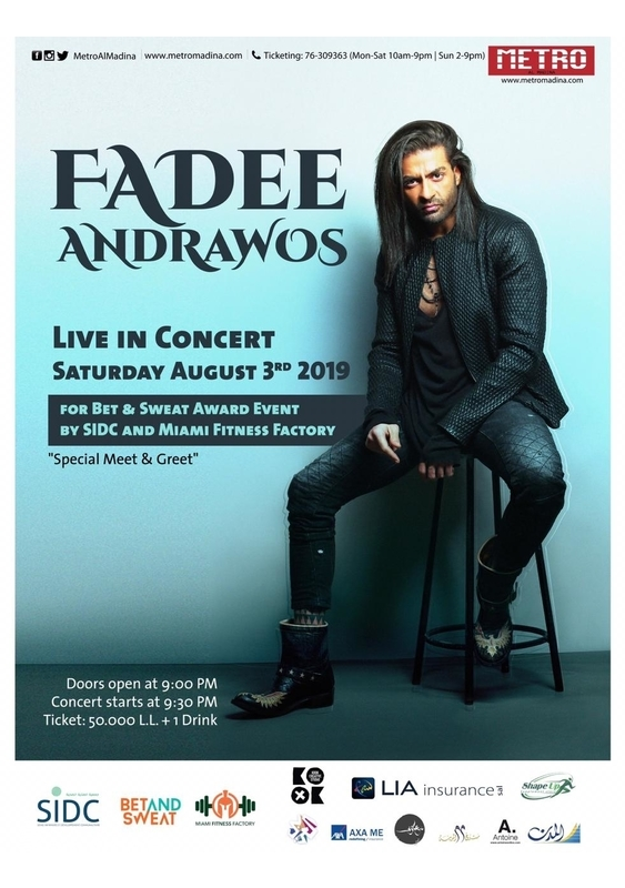 Metro Al Madina Beirut-Hamra Concert Fadee Andrawos Live in Concert Lebanon