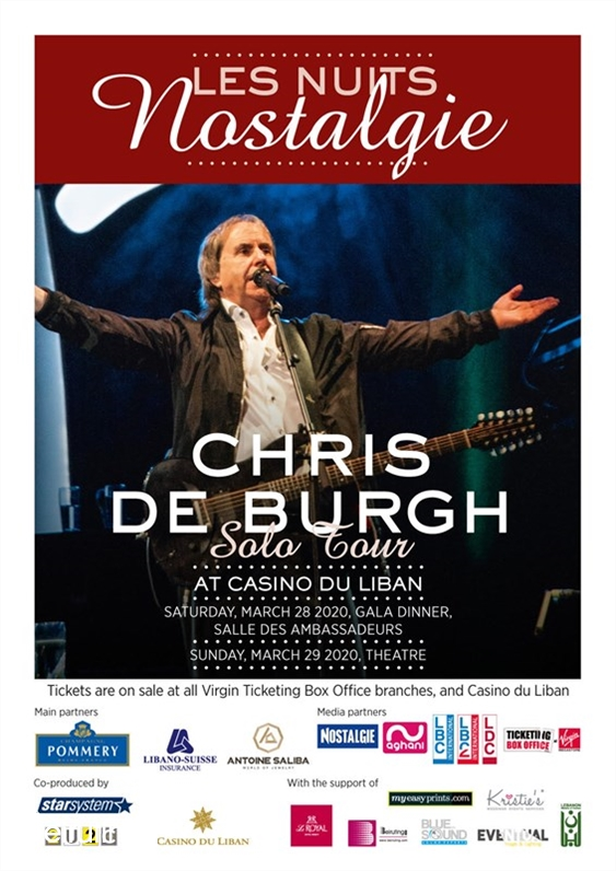 Casino du Liban Jounieh Concert Chris De Burgh at Casino Du Liban Lebanon