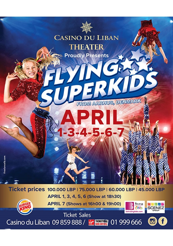 Casino du Liban Jounieh Kids Flying SuperKids Lebanon