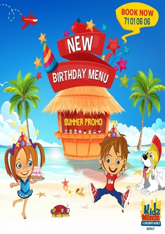 KidzMondo Beirut Suburb Kids New birthday menu for Summer Lebanon
