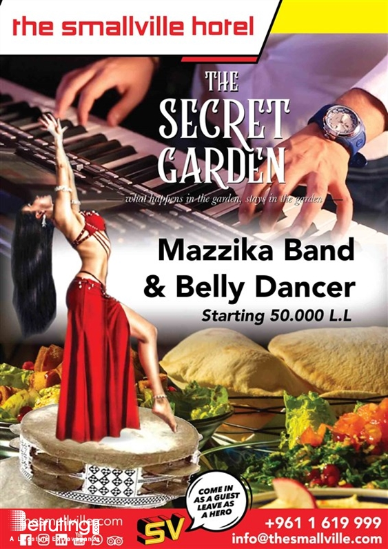The Smallville Hotel Badaro Nightlife Mazzika Band and Belly Dancer Lebanon