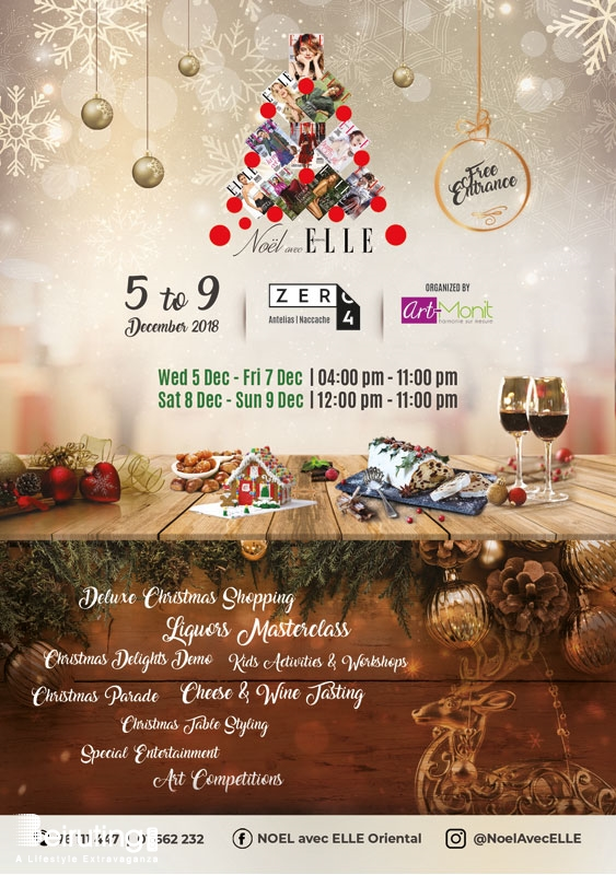 Activities Beirut Suburb Social Event Noël avec ELLE oriental a pleasure for all senses. Lebanon