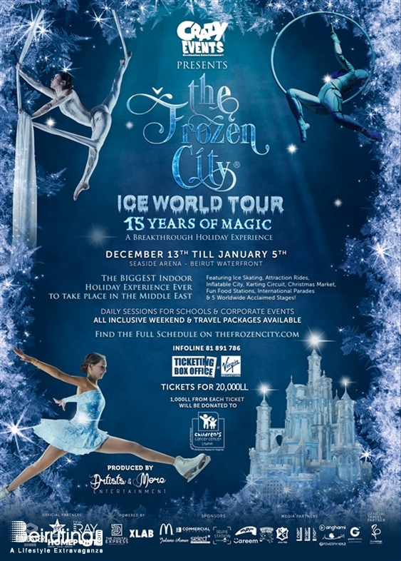 Beirut Waterfront Beirut-Downtown Kids The Frozen City - Ice World Tour Lebanon