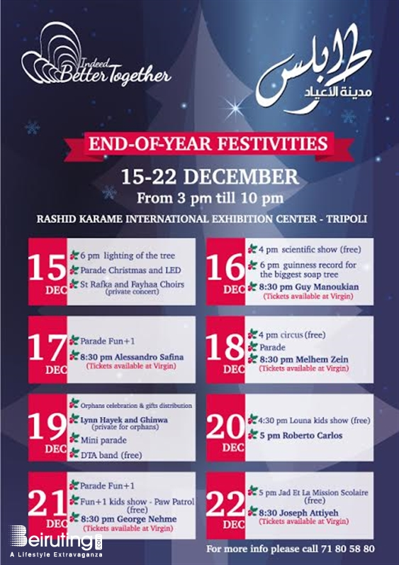 Activities Beirut Suburb Concert End-Of-Year Festivities Lebanon