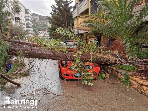 Outdoor Storm causes heavy damages in Lebanon Lebanon