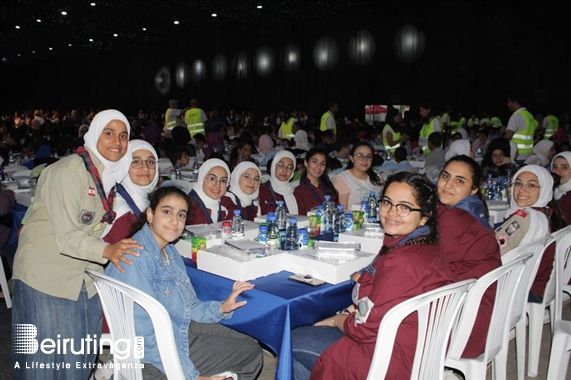 Biel Beirut-Downtown Social Event Ajialouna Iftar for 2000 orphans Lebanon
