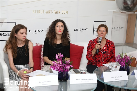 Le Gray Beirut  Beirut-Downtown Social Event Announcement of the 10th edition of BEIRUT ART FAIR Lebanon