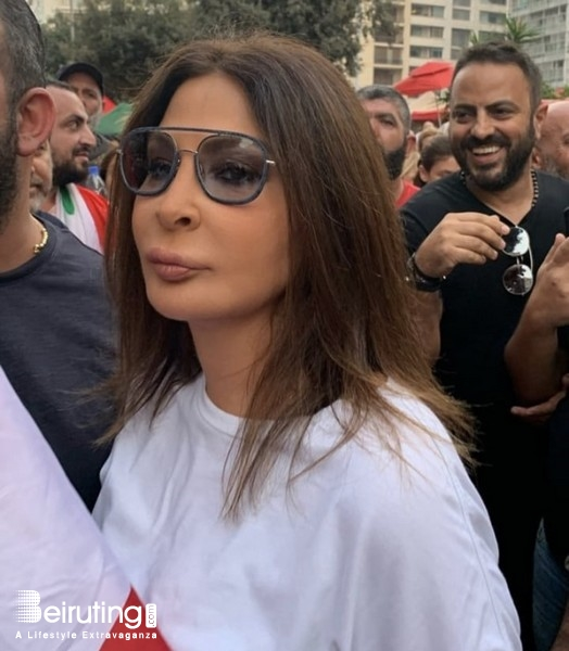Outdoor Elissa Joins in Lebanon's protests Lebanon