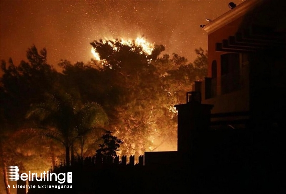 Outdoor Massive fire in Chouf & Matn Lebanon