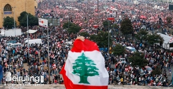 Outdoor Lebanon's biggest protest-Revolution Lebanon