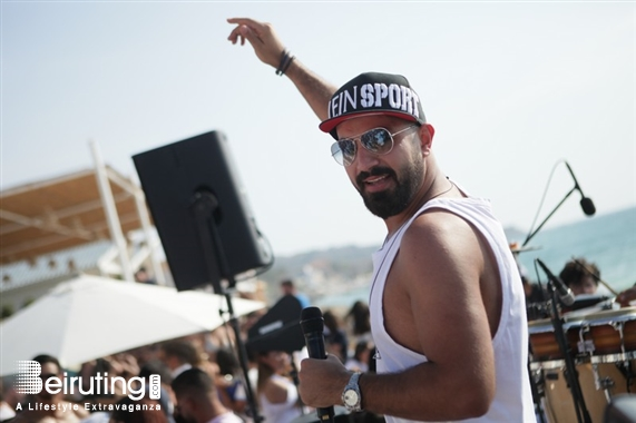 Eleven Beach Club Batroun Beach Party Nacho and Maher at La Taiga Lebanon