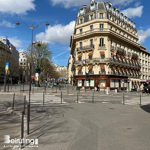 Around the World Outdoor Coronavirus fears empty streets in Paris Lebanon