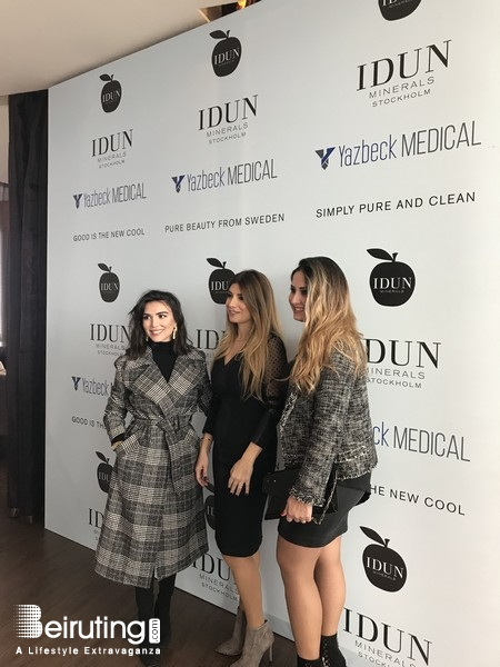 Eau De Vie-Phoenicia Beirut-Downtown Social Event Yazbeck Medical launch IDUN Minerals Stockholm Lebanon